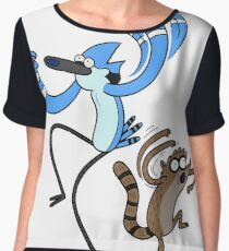 Regular Show Mordecai and Rigby Women's Chiffon Top