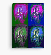 Indian Warrior Pop Art Canvas Print