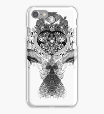 Peacock Clock iPhone Case/Skin