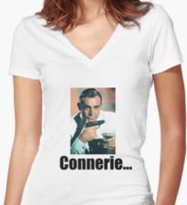 sean connery connerie drole Women's Fitted V-Neck T-Shirt