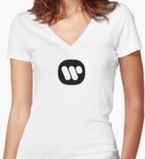 Warner Logo Women's Fitted V-Neck T-Shirt