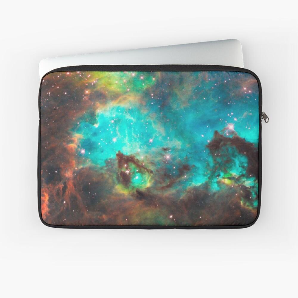 Green Galaxy Laptop Sleeve