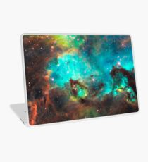 Green Galaxy Laptop Skin