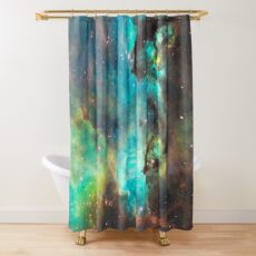 Green Galaxy Shower Curtain