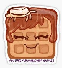 The DrawingWiffWaffles Logo - Butter Maple Sticker