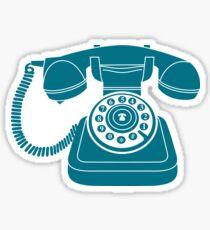 Retro Blue Phone Sticker