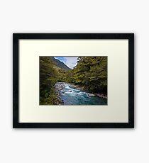 Hollyford River New Zealand Framed Print
