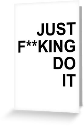Jfdi just fing do it full greeting cards by edgy tees redbubble jfdi just fing do it full by edgy tees m4hsunfo