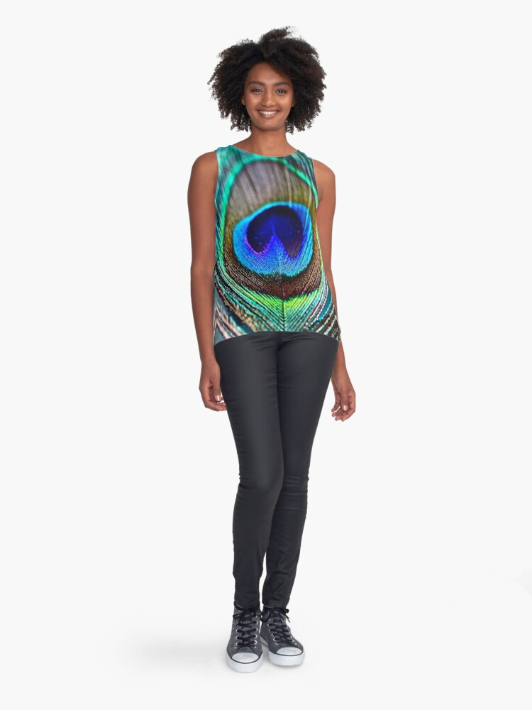 Alternate view of Peacock Feather Sleeveless Top