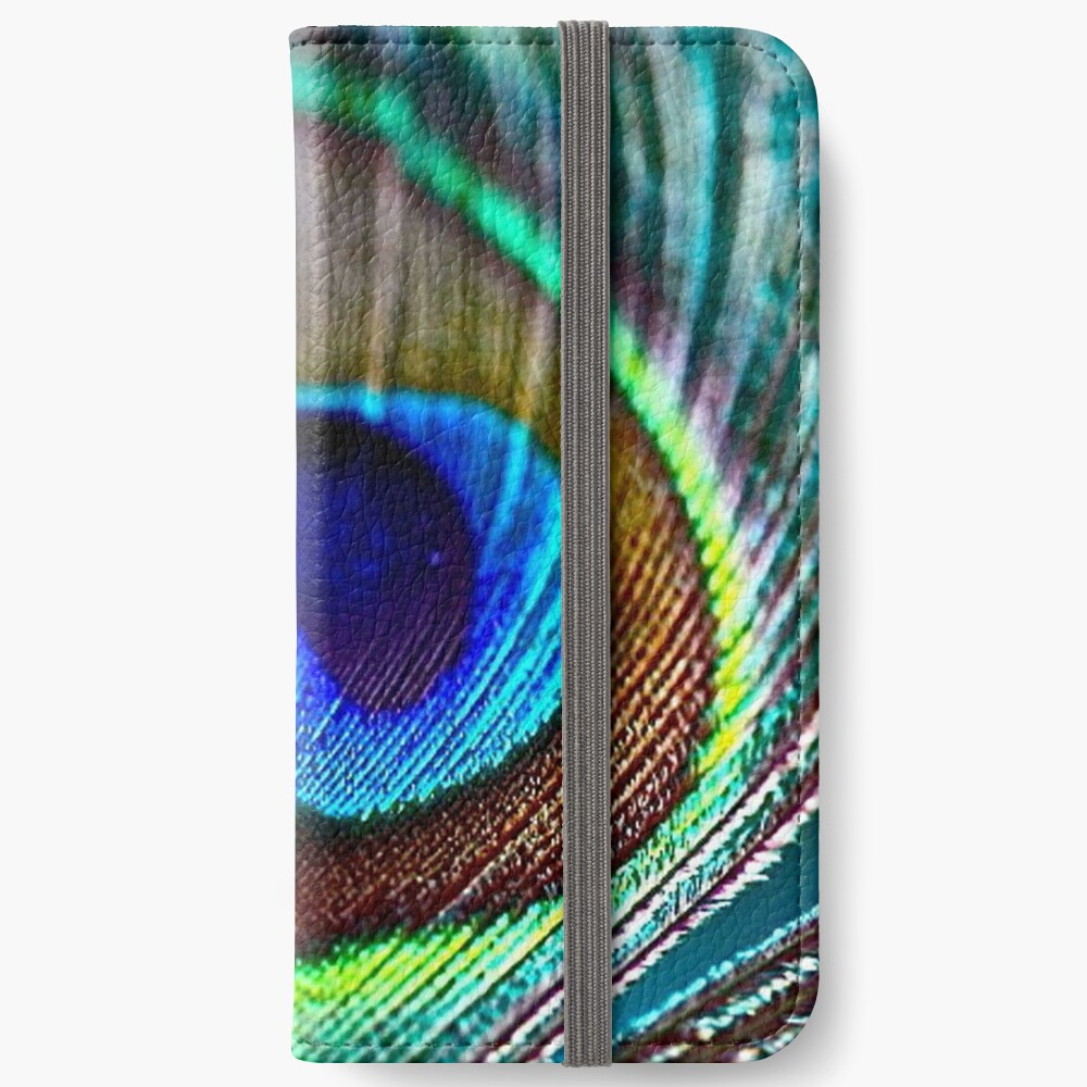 Peacock Feather iPhone Wallet