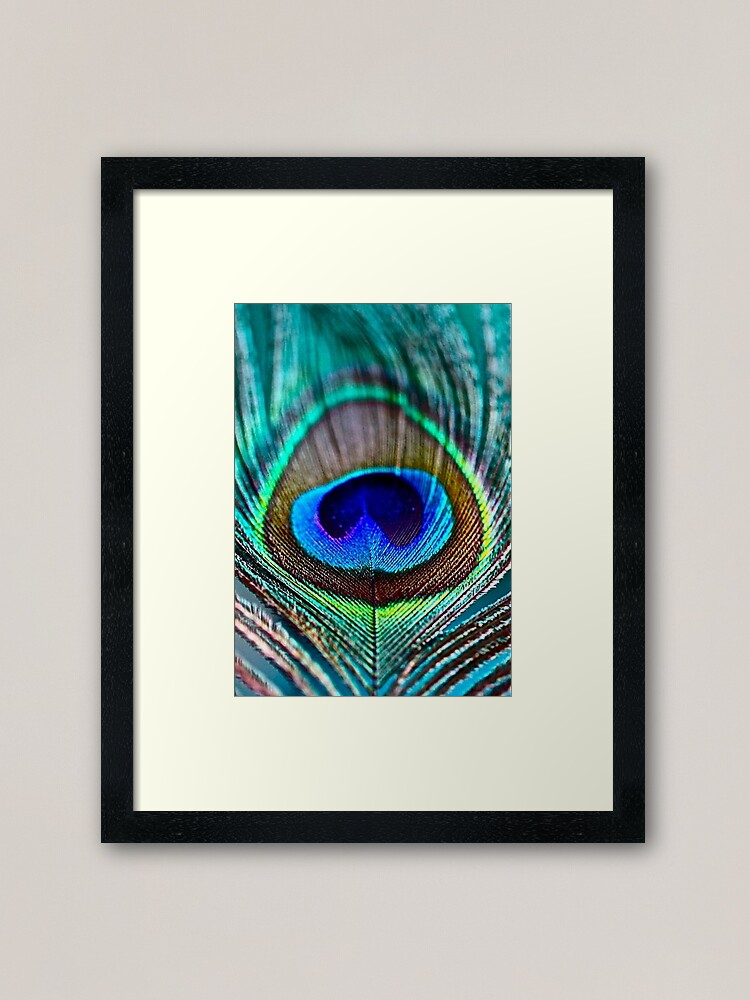 Alternate view of Peacock Feather Framed Art Print
