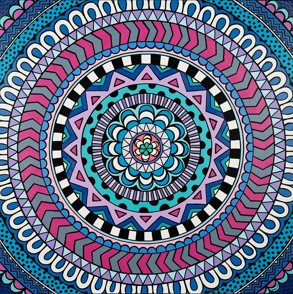 Purple Mandala by Beth Ann  Scott