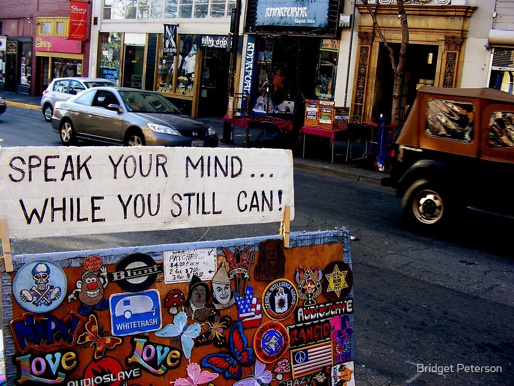 Speak your mind by Bridget Peterson