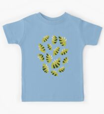 Clawed Abstract Green Leaf Pattern Kids Tee