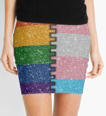 Rainbow Transgender Glitter Flag Mini Skirt