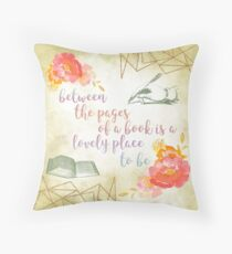 Between the pages of a book Throw Pillow