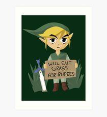 Looking For Work - Legend of Zelda Art Print