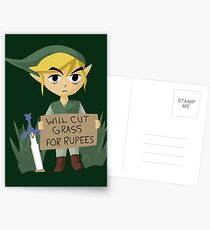 Auf der Suche nach Arbeit - Die Legende von Zelda Postkarten