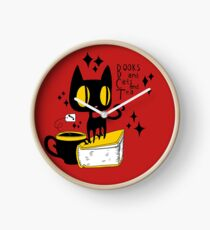 Books and Cats and Tea Clock
