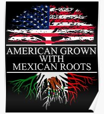 American Grown with Mexican Roots Poster