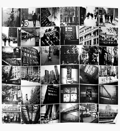 Black & White Collage Poster