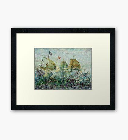 Under Full Sail II Framed Print