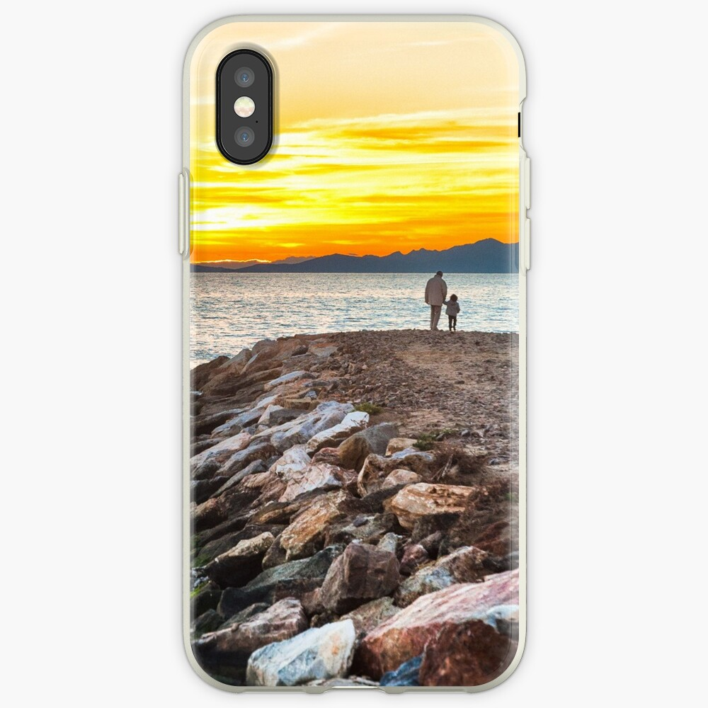 Sunset with dad iPhone Case & Cover