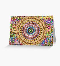 Colorful Peace Mandala  Greeting Card