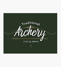 Traditional Archery Stick & String Photographic Print