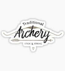 Traditional Archery Stick & String Sticker