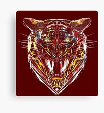 stencil tiger Canvas Print