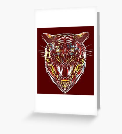 stencil tiger Greeting Card