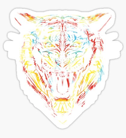 stencil tiger Sticker