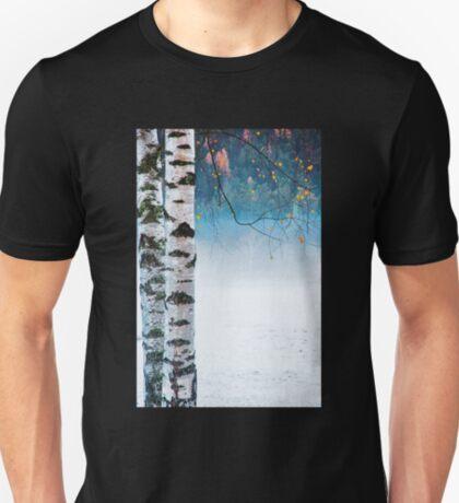 Birches in the mist T-Shirt