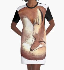 Red Fox Graphic T-Shirt Dress