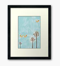 Birds in Trees Framed Print