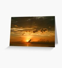 Lido Key Sunset Greeting Card