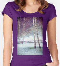 Two birches Fitted Scoop T-Shirt