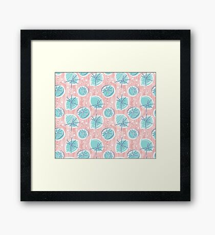 Atomic Lemonade_Rose Quartz Framed Print