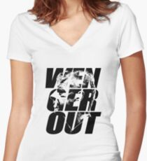 wenger out Women's Fitted V-Neck T-Shirt