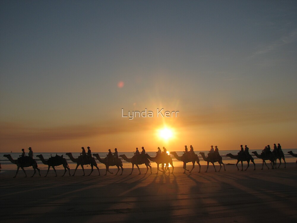 """Those Camels"" Cable Beach,West.Aust by Lynda Kerr"
