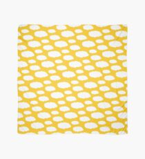 White Clouds on Mustard Yellow Scarf