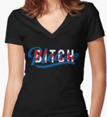 Bitch, Please by Tai's Tees Women's Fitted V-Neck T-Shirt