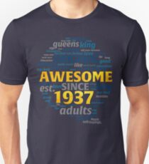Vintage Aged Perfection Years 1937 80 th Tshirt T-Shirt