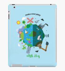 make everyday earth day iPad Case/Skin