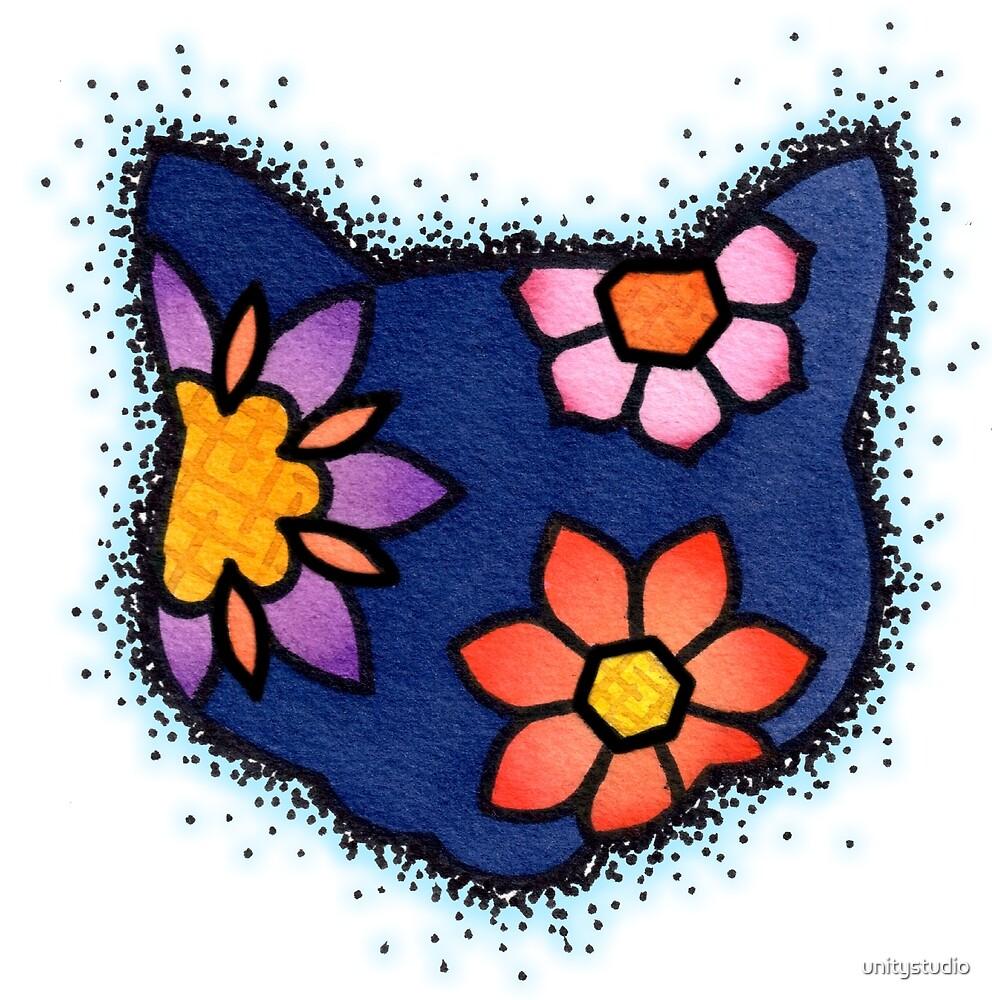 Feline Flowers by unitystudio