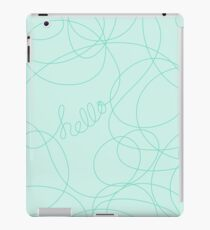 Hello in Teal Squiggles iPad Case/Skin