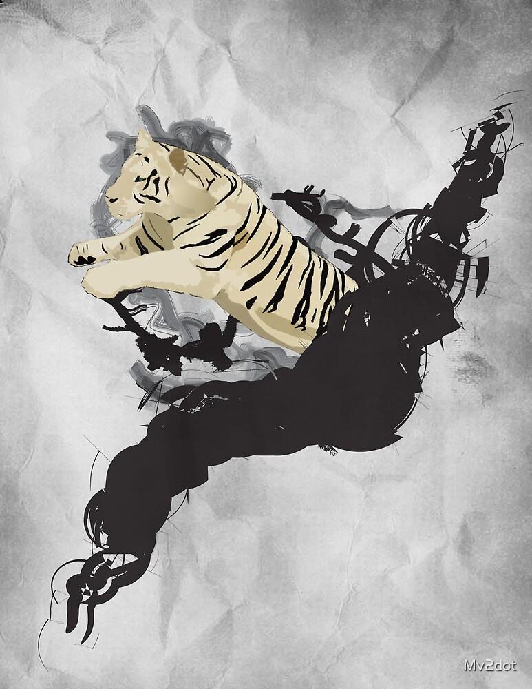 Jumping tiger by Mv2dot