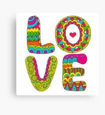 Cool hippie print. Canvas Print