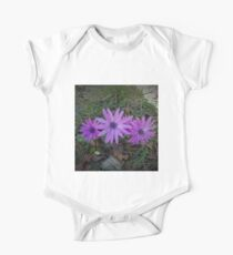 Tern of purple flowers One Piece - Short Sleeve